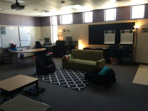 When you decide to shift to a blended learning model, it forces you to think differently about everything in education, including the classroom setup. I decided to take the leap this year into flexible seating because students are constantly moving in blended learning, which lends itself to a different kind of classroom environment (think Google or Starbucks).