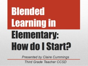 I had the privilege of presenting yesterday at the CUE-NV State Conference to a group of enthusiastic tech-loving educators who spent their Friday evening learning about blended learning.